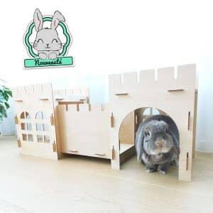 Cabane pour lapin | Castle Bunny Mon Lapin Nain 3