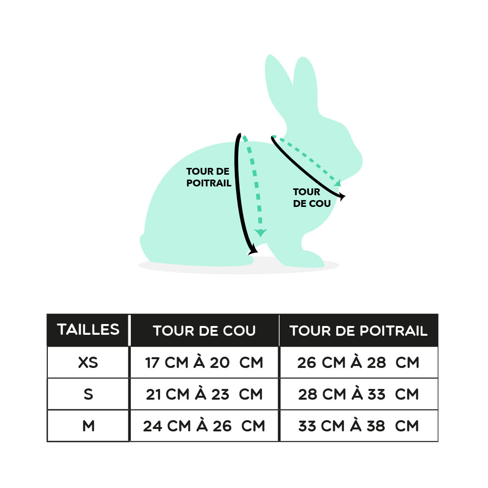 Harnais pour lapin - taille