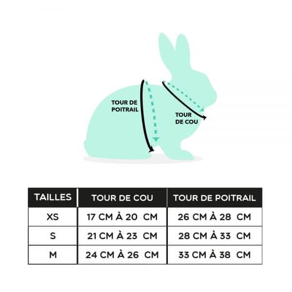 Harnais pour lapin Réfléchissant Mon Lapin Nain 4