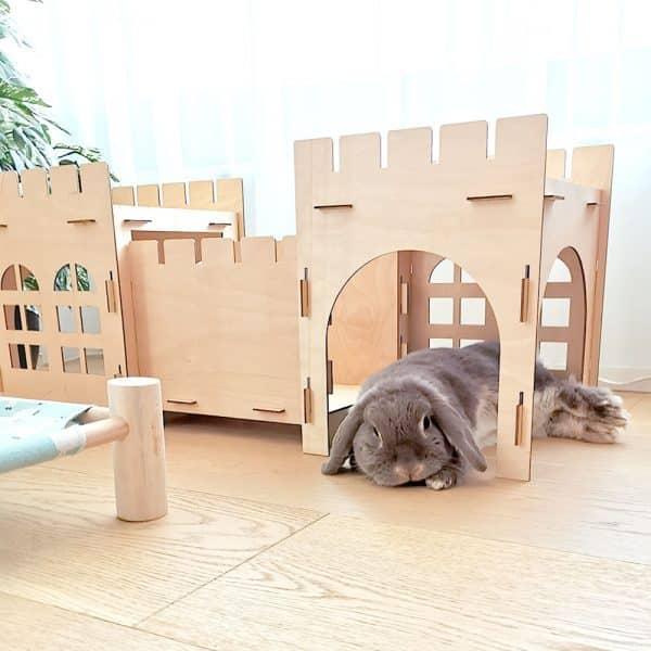 Cabane pour lapin | Castle Bunny Mon Lapin Nain 5