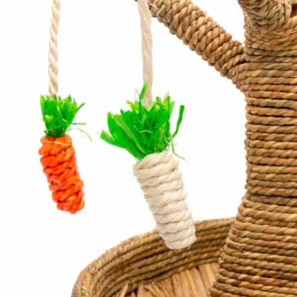 Arbre à lapin   Arbre à carottes avec mangeoire à foin Mon Lapin Nain 6